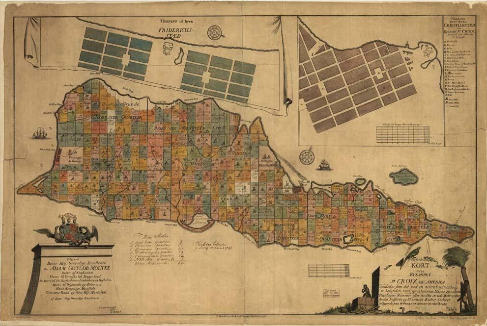 an old st croix virgin islands map