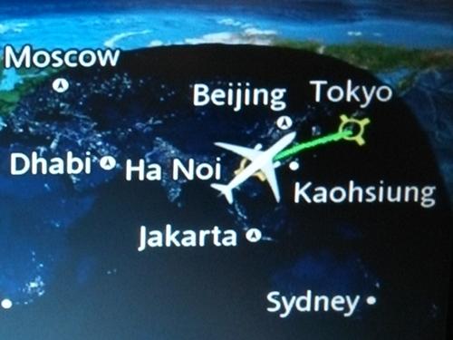 ベトナム航空 310便 ハノイ→成田