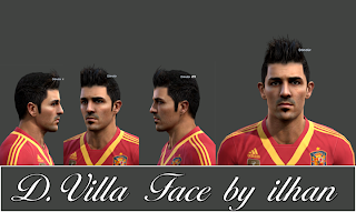 David Villa Face PES 2013 by Ilhan