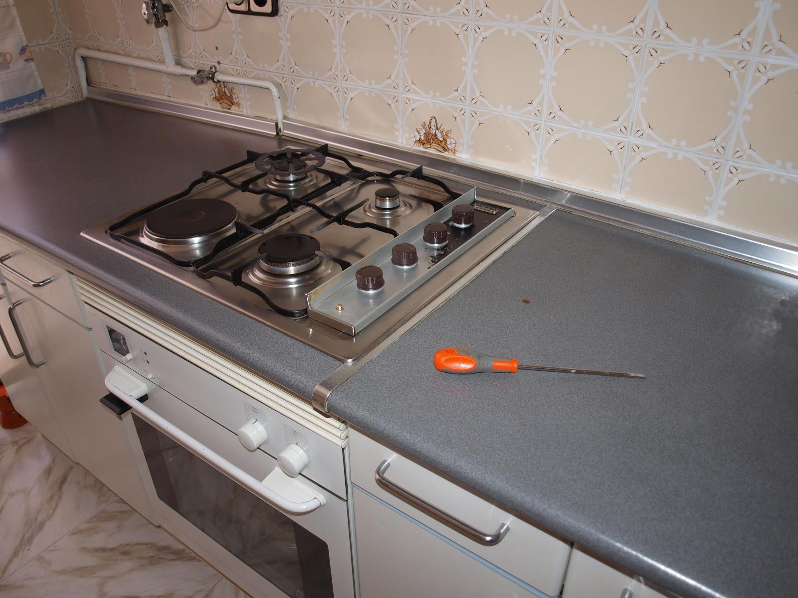 El resultado de mi imaginaci n encimera de la cocina 1 parte for Cocina encimera a gas