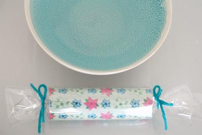 Déco de table turquoise