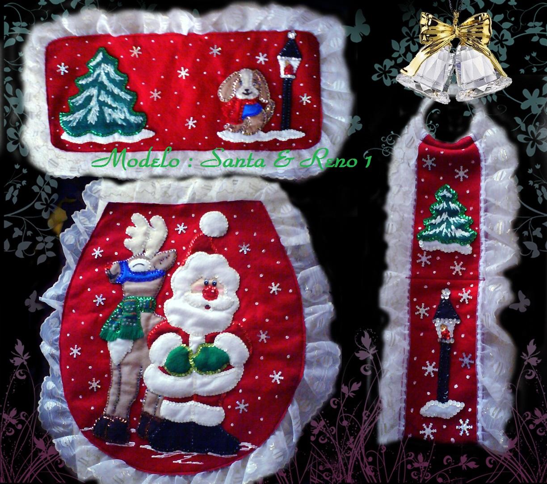 Juegos Baño Navidad Fieltro:Juegos de baño navideños en fieltro