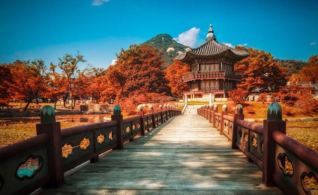 ve may bay di han quoc - Một góc cung Changdeokgung Hàn Quốc