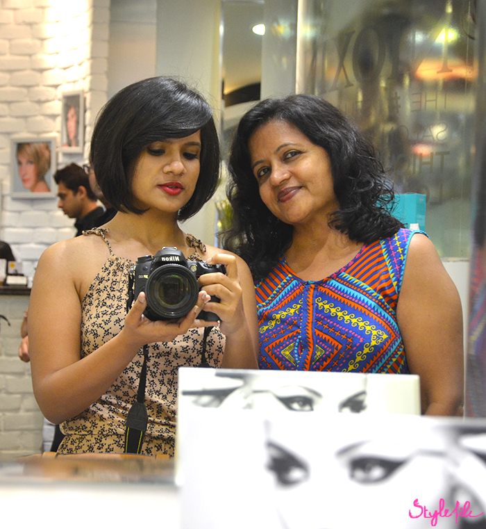 Dayle Pereira, blogger at Style File India and her mother after their hair makeover by Wella Professionals at Jean Claude Biguine salon