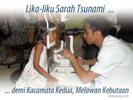 Lika-liku Sarah Tsunami demi Kacamata Kedua, Melawan Kebutaan