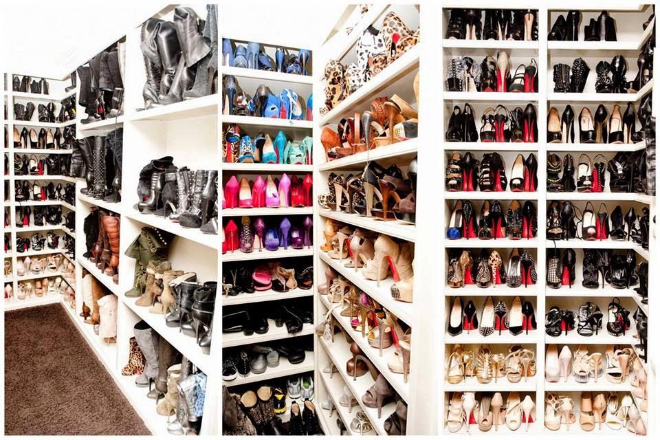 DIY Closet   Kim Kardashian Shoe Closet