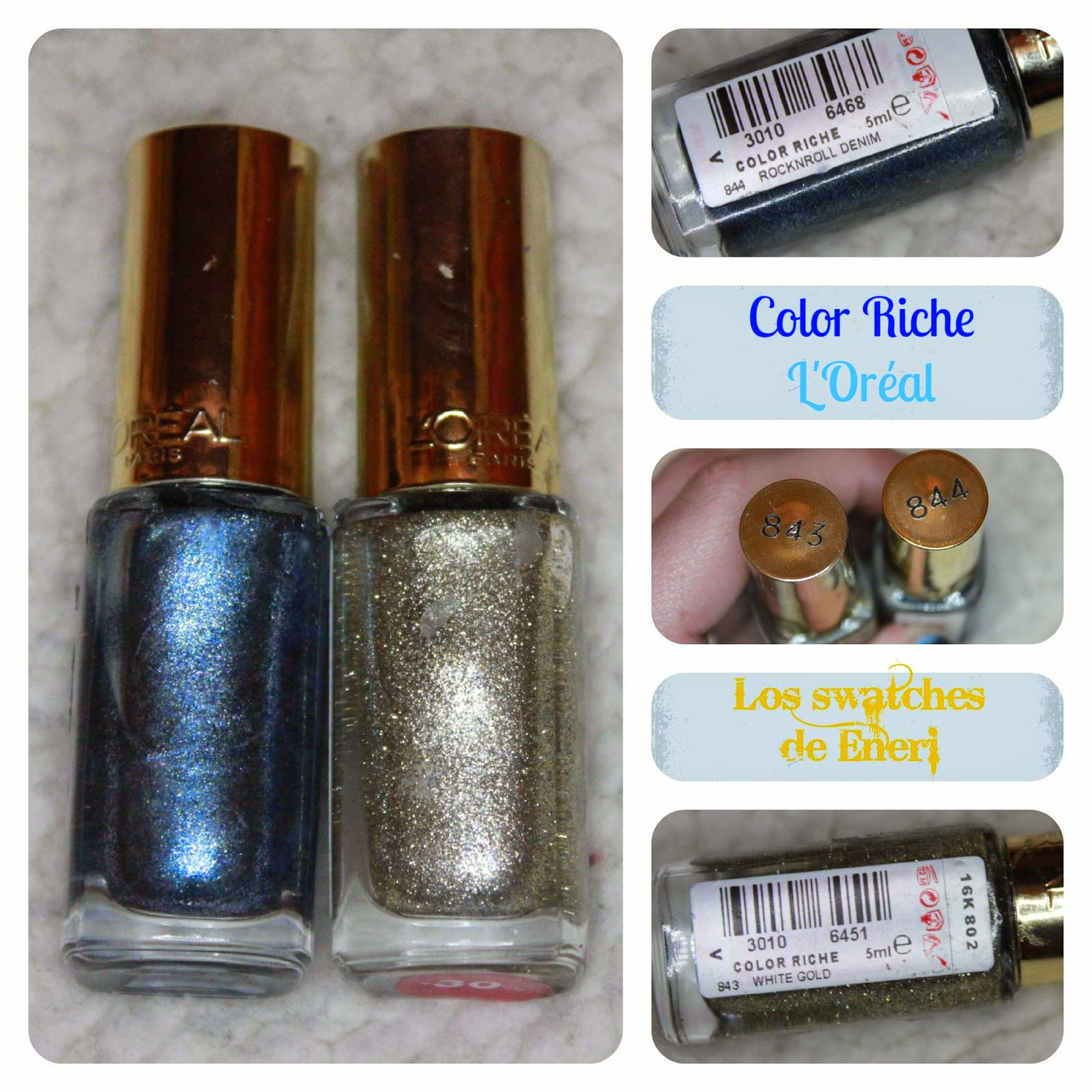 Loreal Color Riche Nail Polish 843 White Gold - To Bend Light
