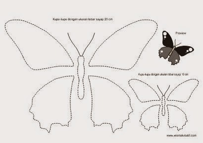 Download pola sayap kupu-kupu gratis