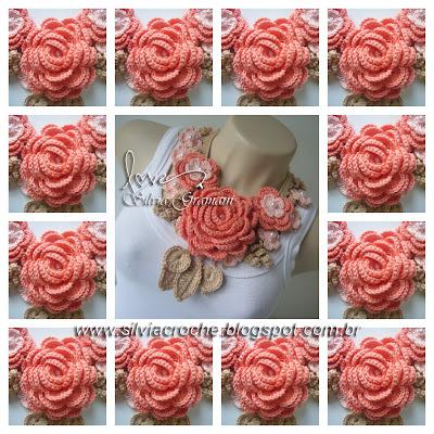 colar de crochê, colar de croche, croche, flor de croche, maxi colar, maxi colar de croche, moda, feminino, acessório, acessorio, moda feminina, acessorio feminino, acessorios feminino, joia, joias