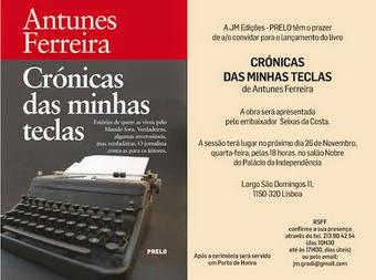 Lançamento: Livro do amigo Ferreira / Lisboa - Portugal
