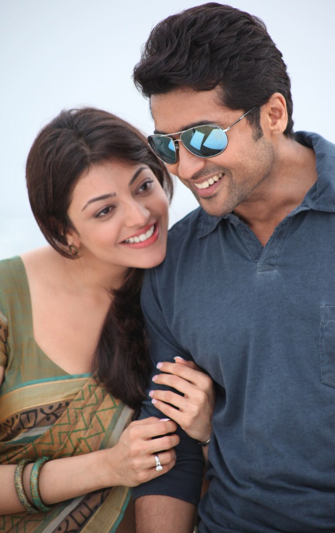 Surya and Kajal Agarwal Hot Stills in Maatraan