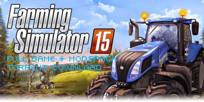 Farming Simulator 2015 Full Game + Mods Pack Torrent Download main screen