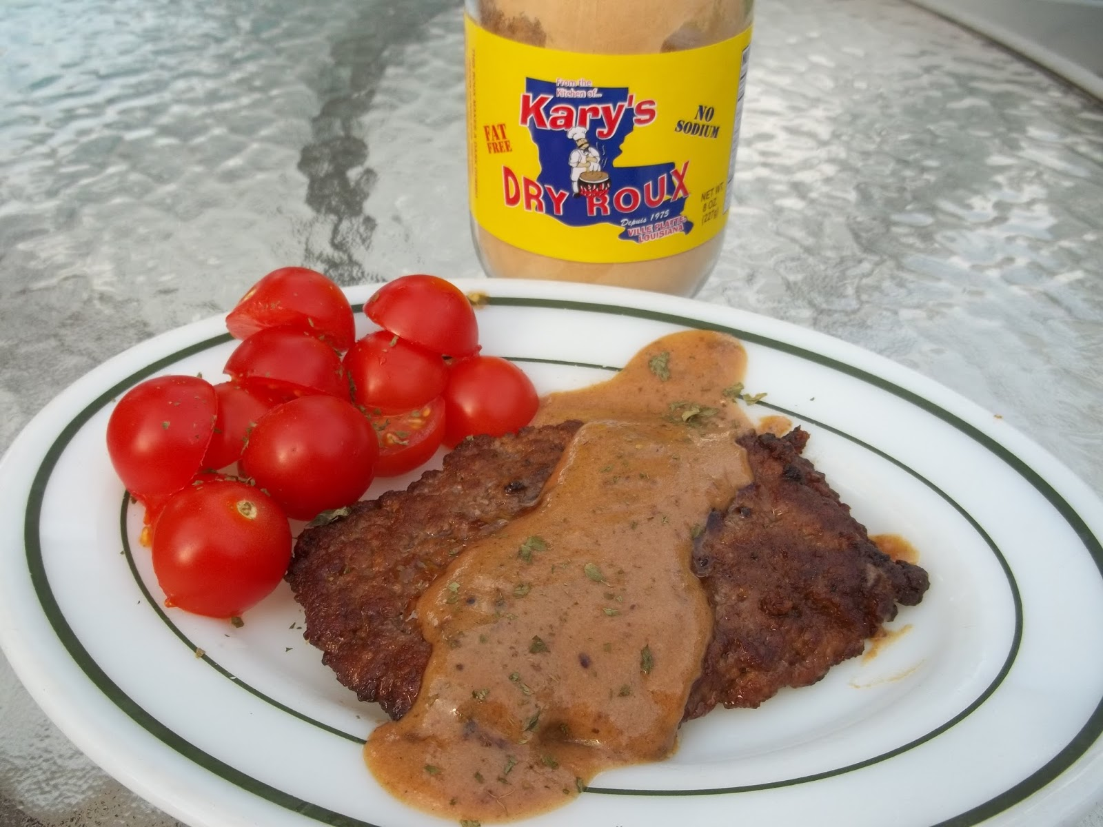 Country Fried Steak with Kary's Dry Roux Milk Gravy..