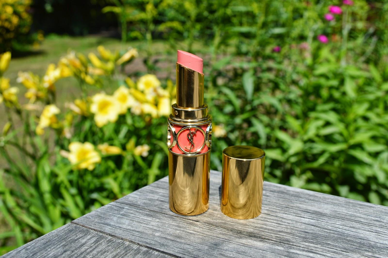 YSL Rouge Volupte lipstick in 13 Peach Passion