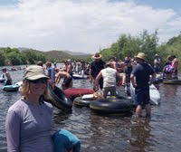 Tubing in salt river Arizona