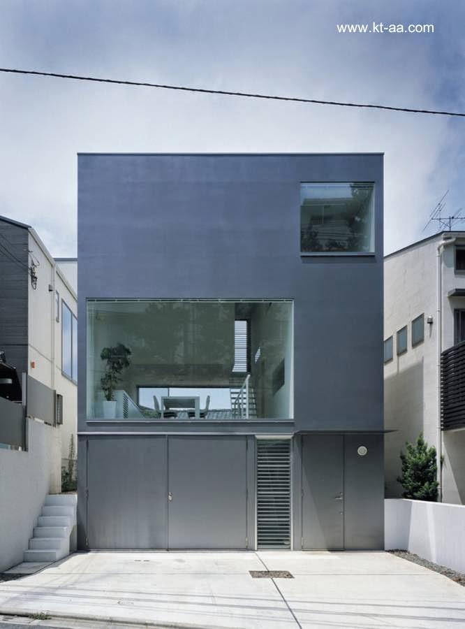 Moderna casa urbana minimalista pequeña en Tokio, Japón