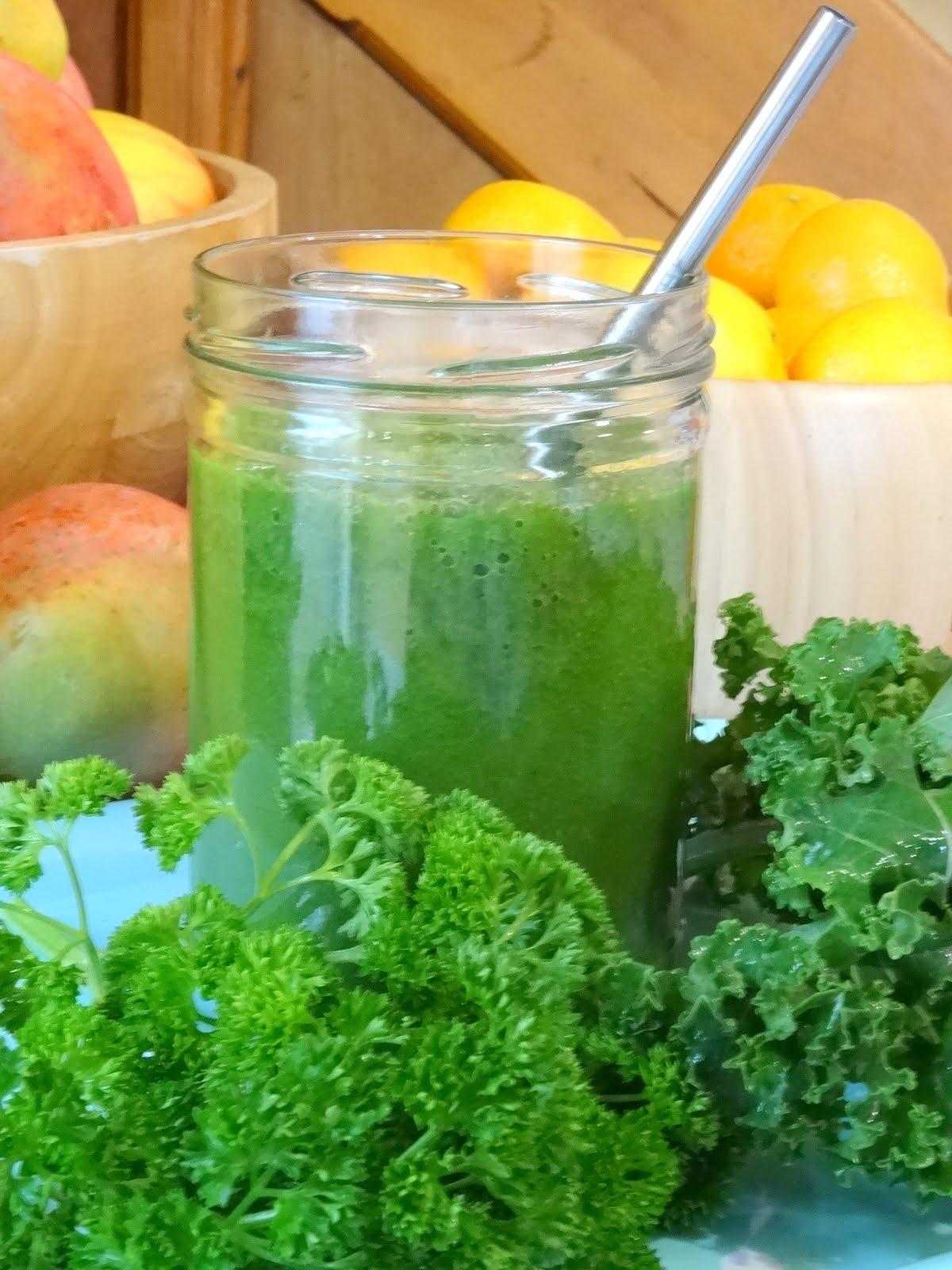 Un smoothie vert