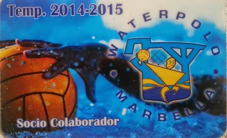 TARJETA DE SOCIO COLABORADOR DEL CLUB WATERPOLO MARBELLA
