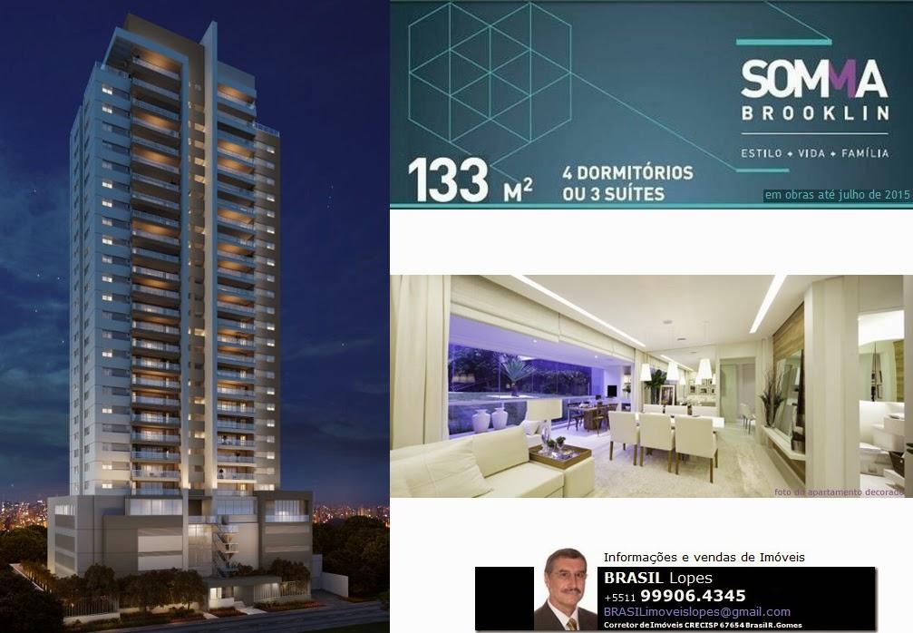 SOMMA Brooklin - Aptos. 130m² 4dorms (2suítes) na R Arizona Brooklin-São Paulo-SP-Brasil