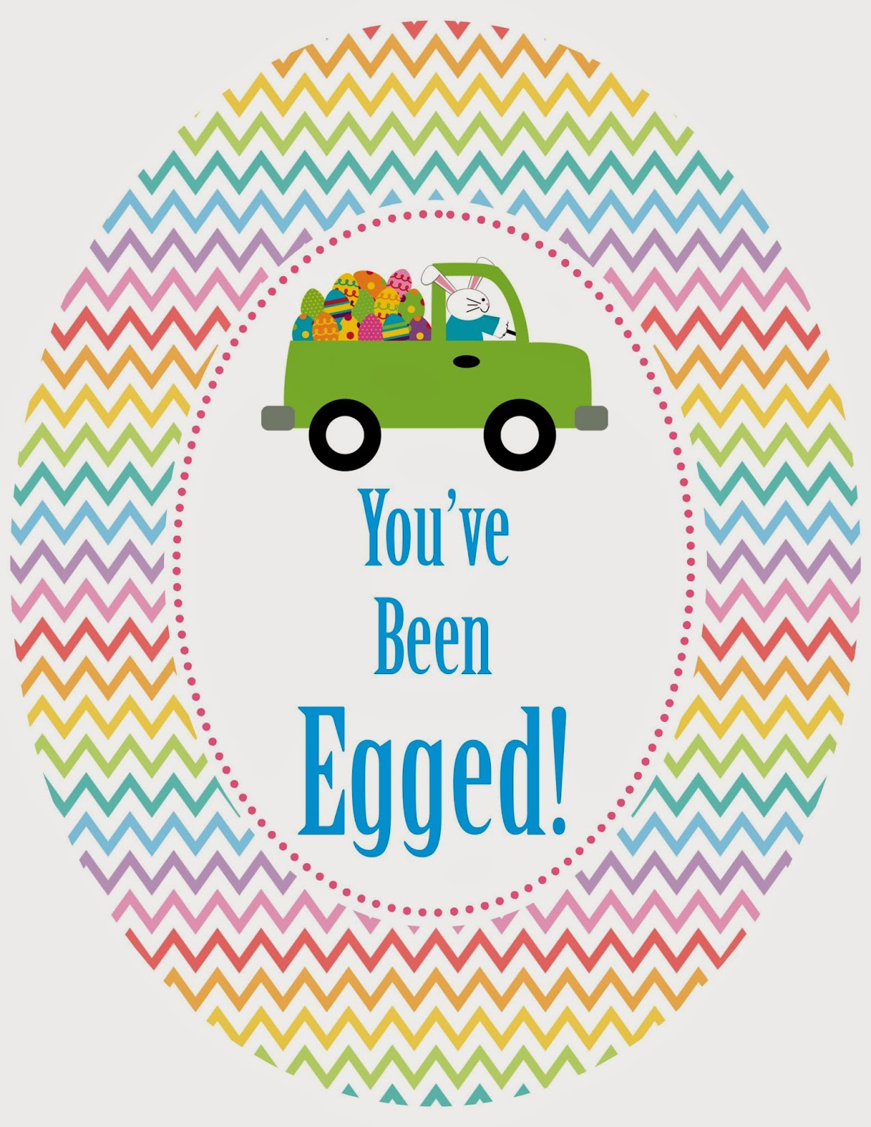 Genius image within you've been egged printable