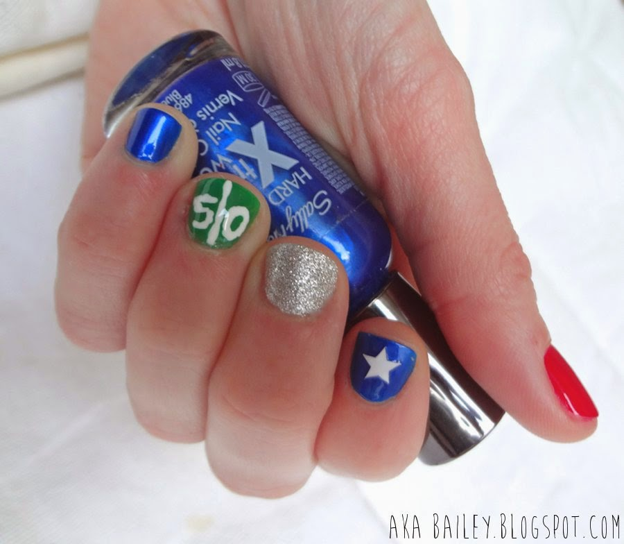 New England Patriots football nails