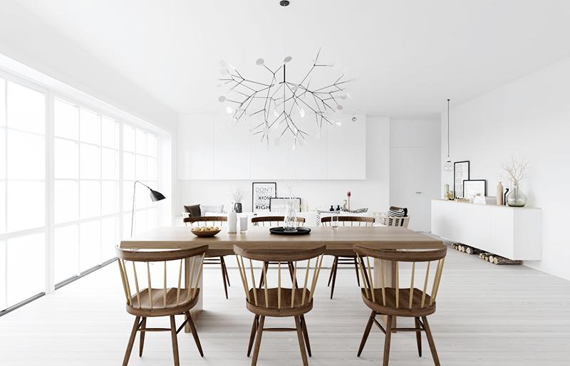 ... Inspiratie Blog: Interieur Inspiratie  Strakke witte eetkamer