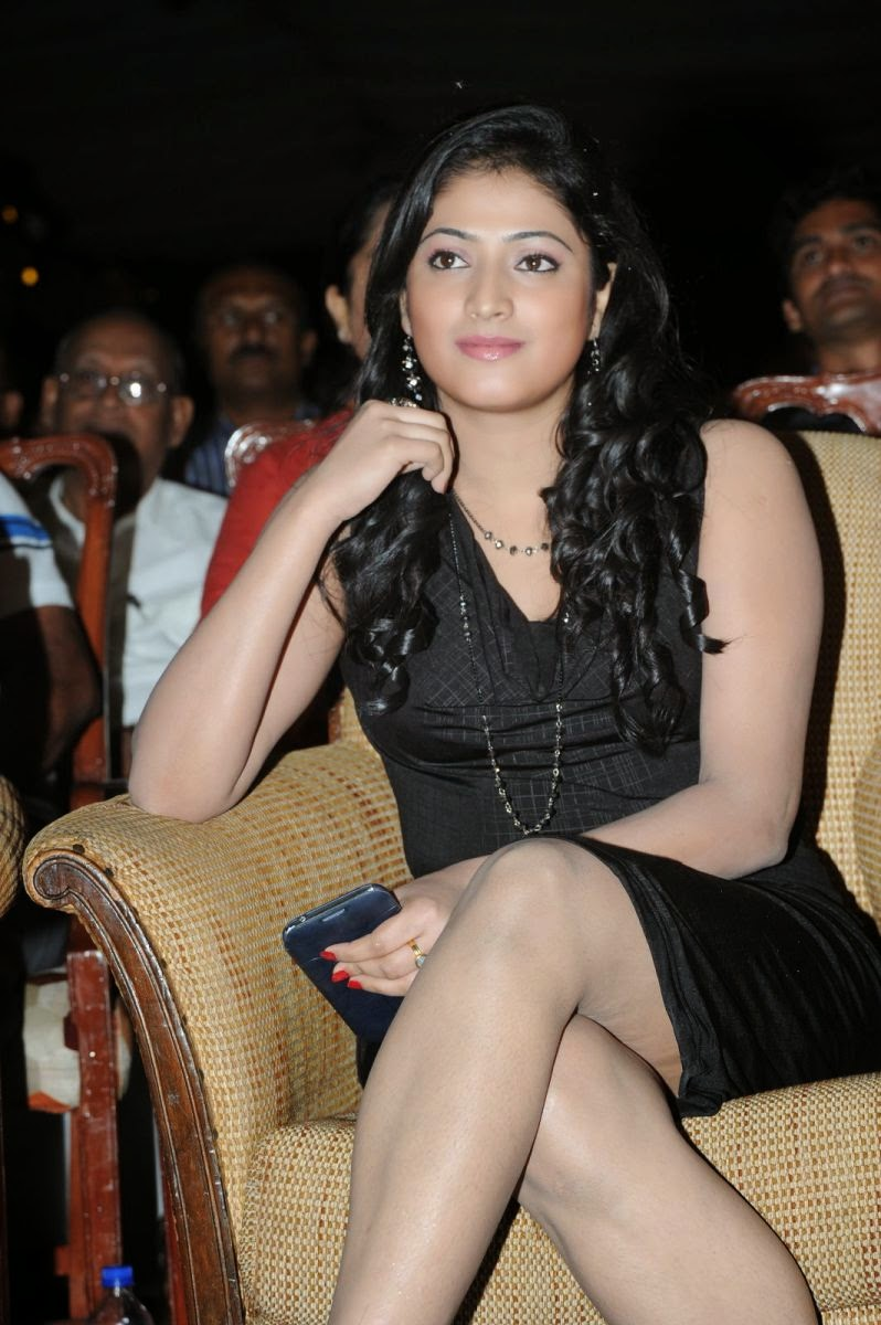Beautiful Hari priya hot photos in short black dress