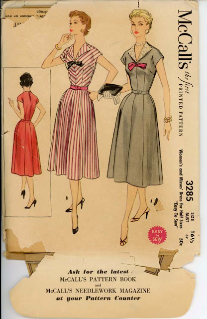 1950s bow dress sewing pattern Just Peachy, Darling