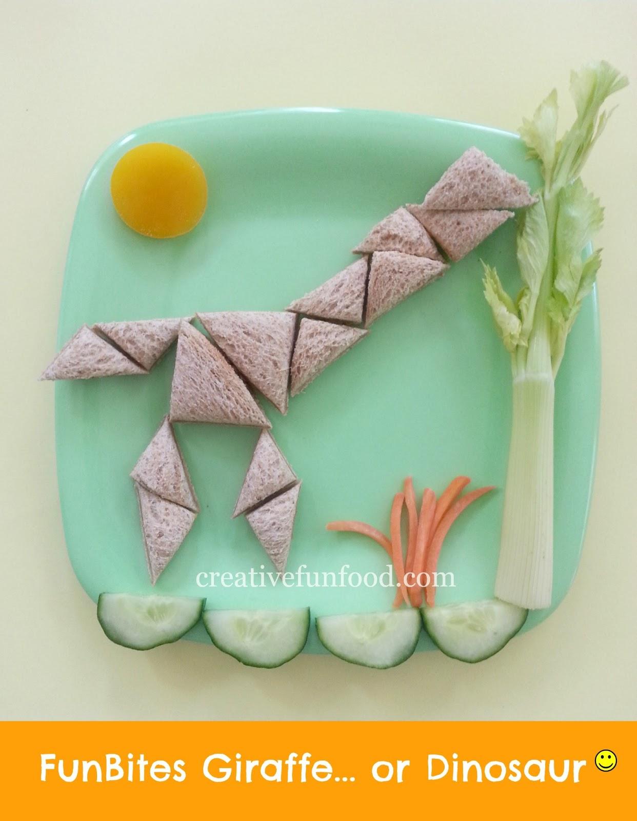 Creative food funbites giraffe or dinosaur for Funbites