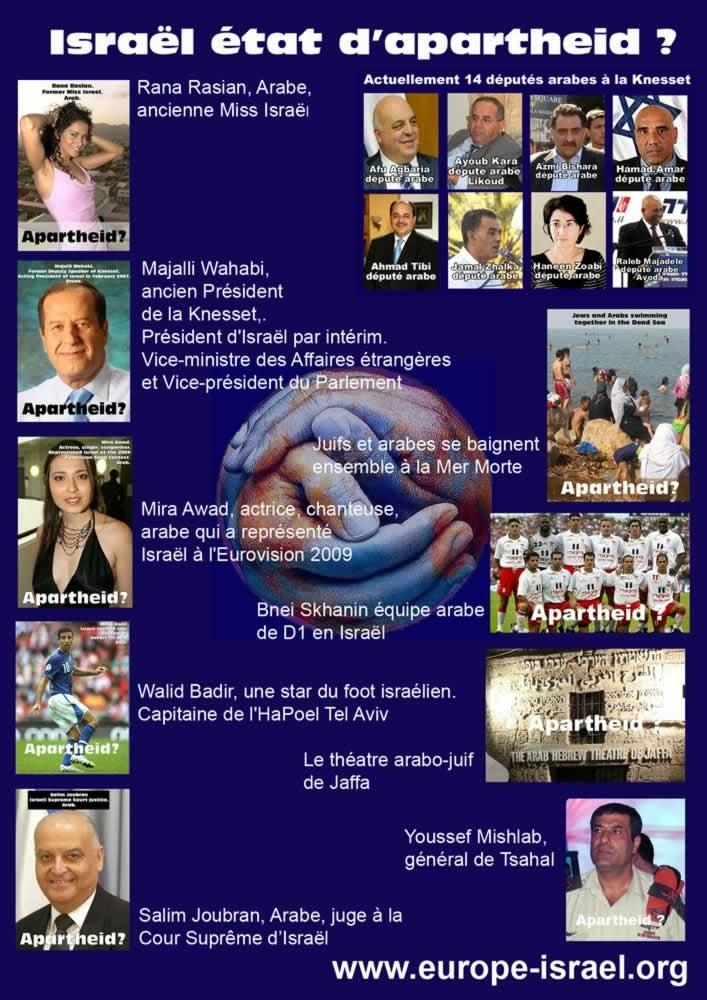 ¿APARTHEID EN ISRAEL...?  Eso es falso. Aquí las pruebas...