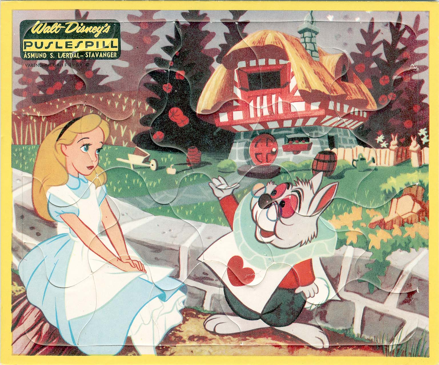 Vintage Disney Alice in Wonderland: Laerdal Frame Tray Puzzle from ...