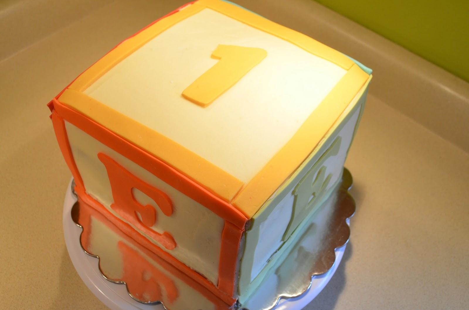 Cake Mama: Evan s Alphabet Block Cake & Cupcakes