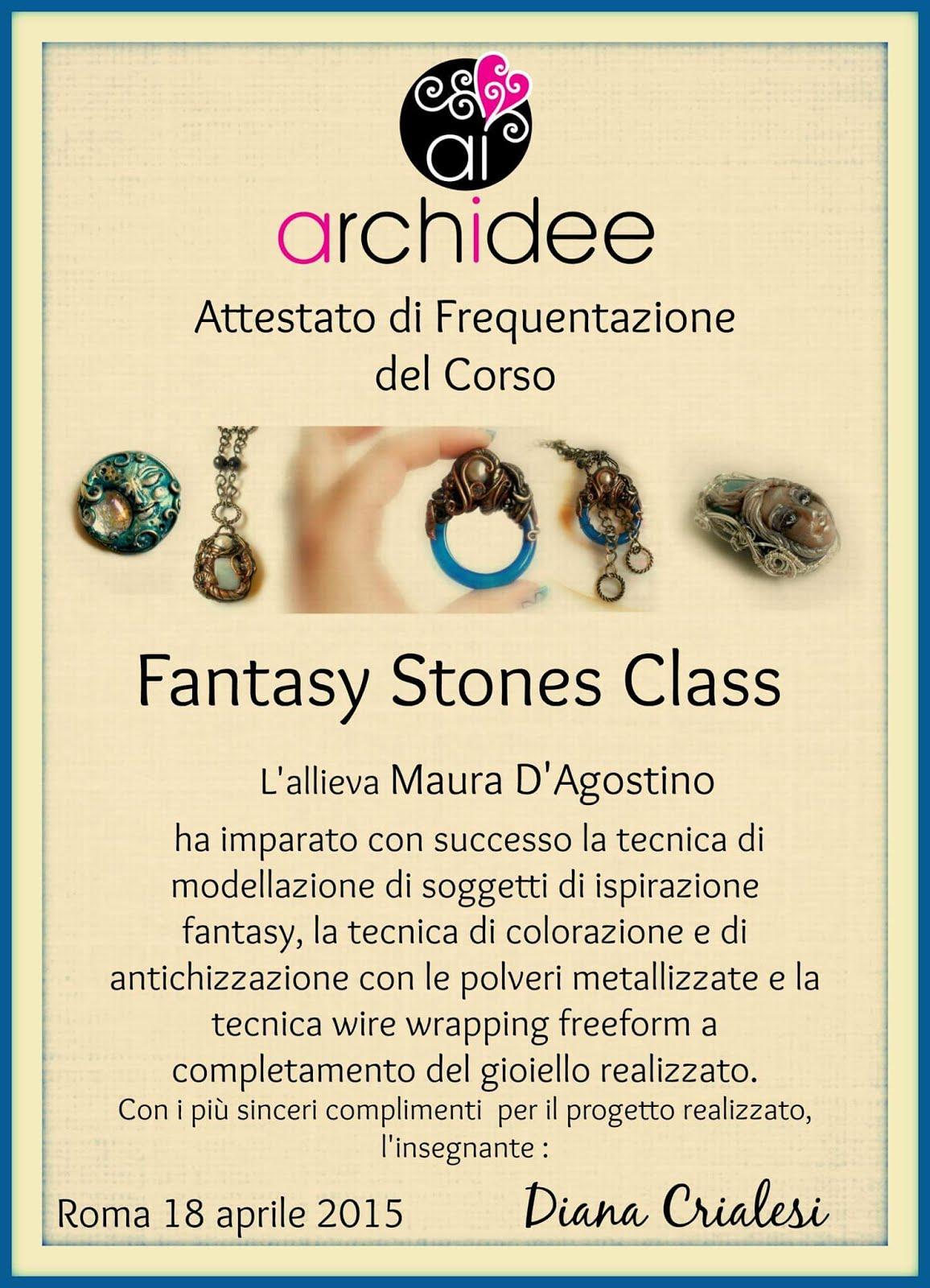 attestato fantasy stone class