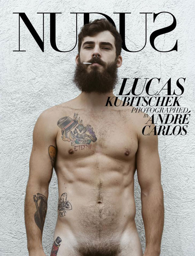 Lucas Kubitschek é capa da Nudus Magazine. Foto: André Carlos