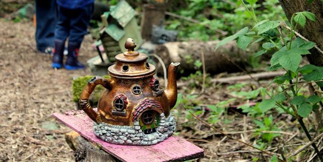 tea pot fairy house