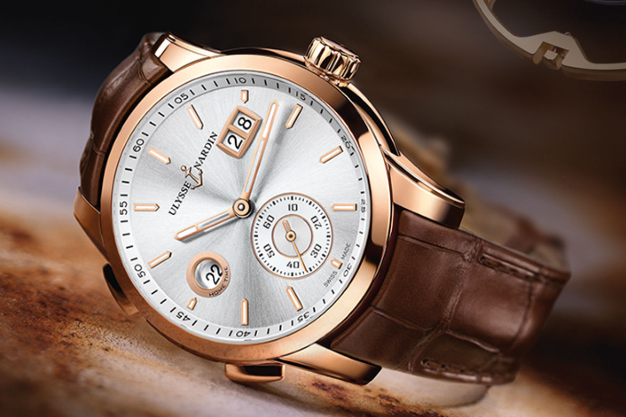 Ulysse Nardin Dual Time Manufacture Watch silver dial