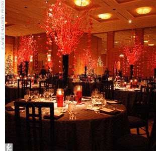 Red wedding decorations designs for Red decoration for wedding