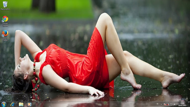 from Oscar sexy girl under rain homemade