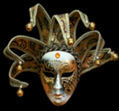 Máscara Carnaval PNG - Arlequim gold