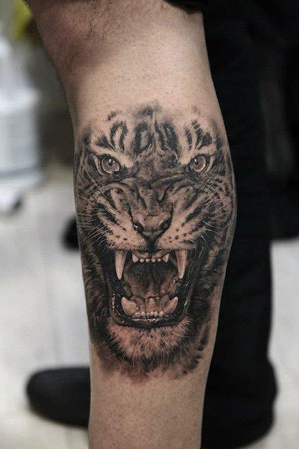 Tatuaje de tigre en 3D