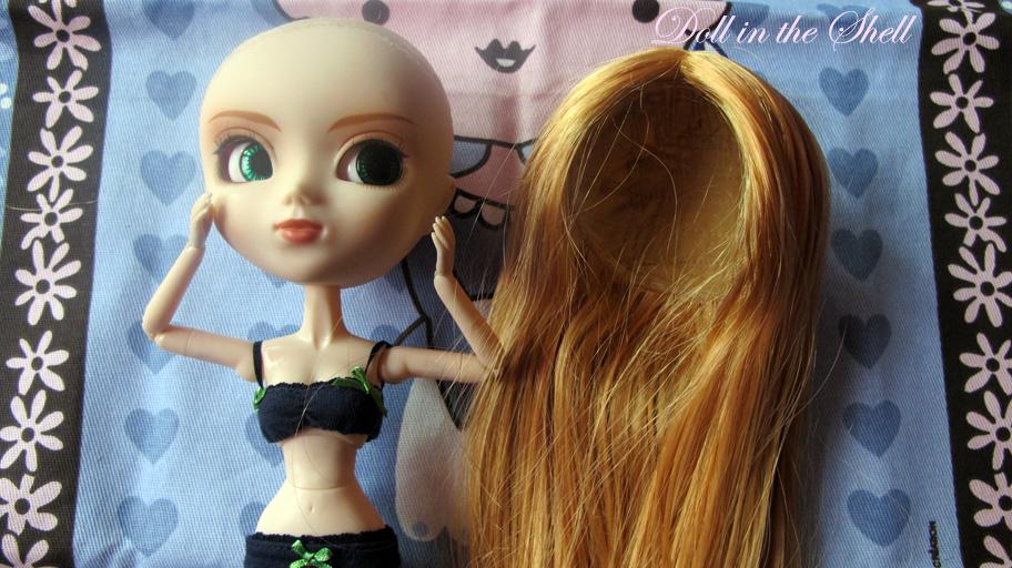 doll in the shell tutoriel enlever la wig d 39 une pullip. Black Bedroom Furniture Sets. Home Design Ideas