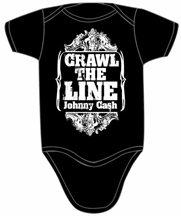 Johnny Cash Crawl the Line Onesie