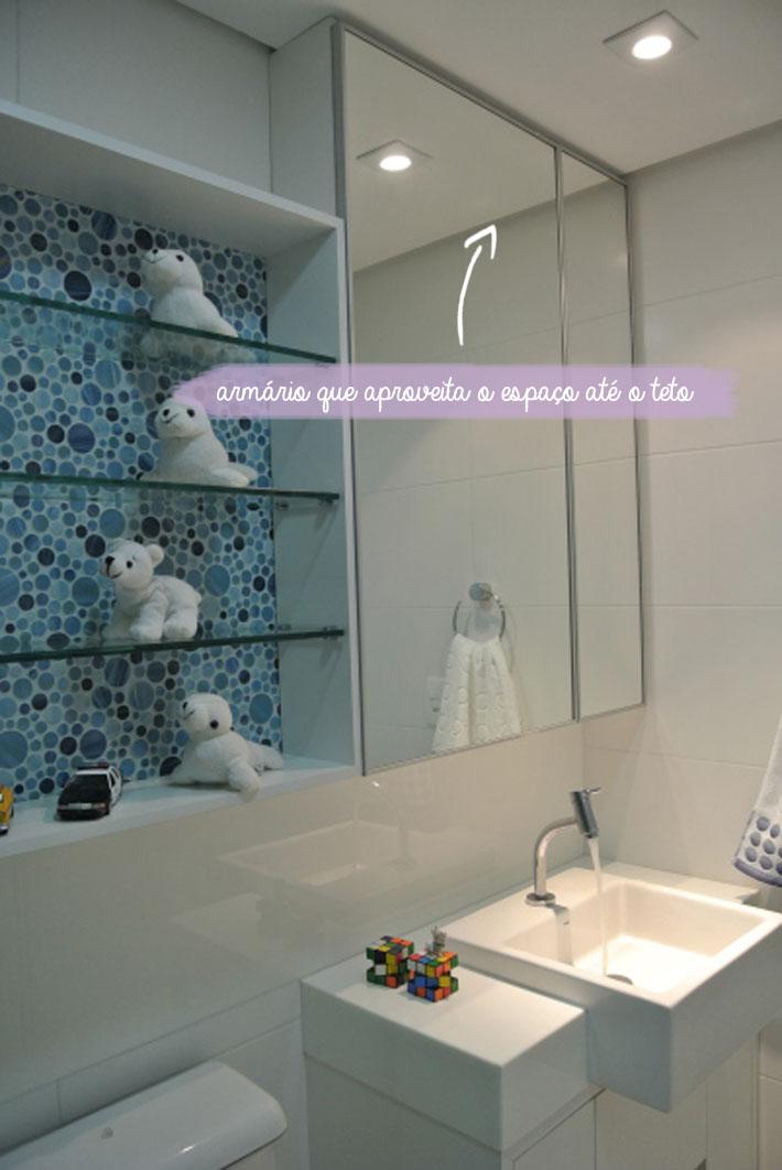 decoracao teto banheiro: banheiro. Só eles conseguem aproveitar cada cantinho de acordo com o