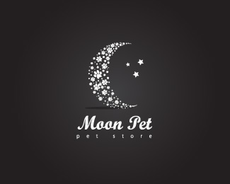 Moon Pet Logo Design