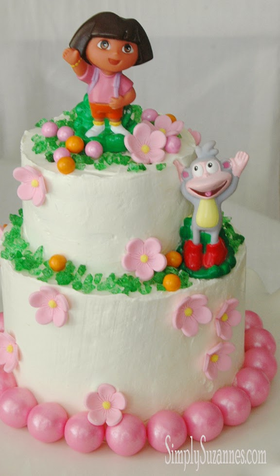 Simply Suzannes At Home A Dora The Explorer Cake For Our Lauren Jane