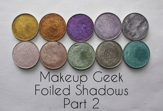 Makeup Geek foiled eye shadows
