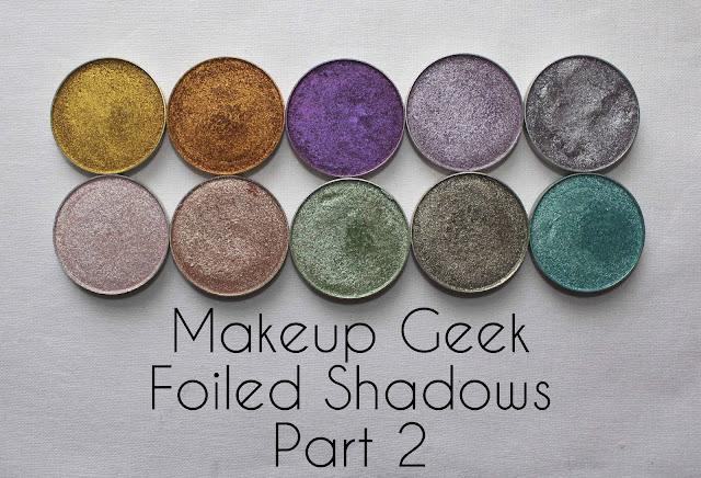 Makeup Geek foiled eye shadows
