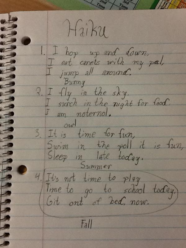 Life in 4B...: Haiku Poems u0026 Planning for LDGs