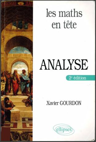 Livre : Les maths en tête - Analyse de Xavier Gourdon