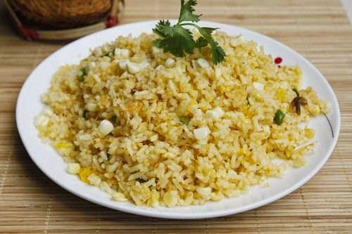 (Cơm chiên Cua và Ngô) - Fried Rice with Crab Meat and Corn